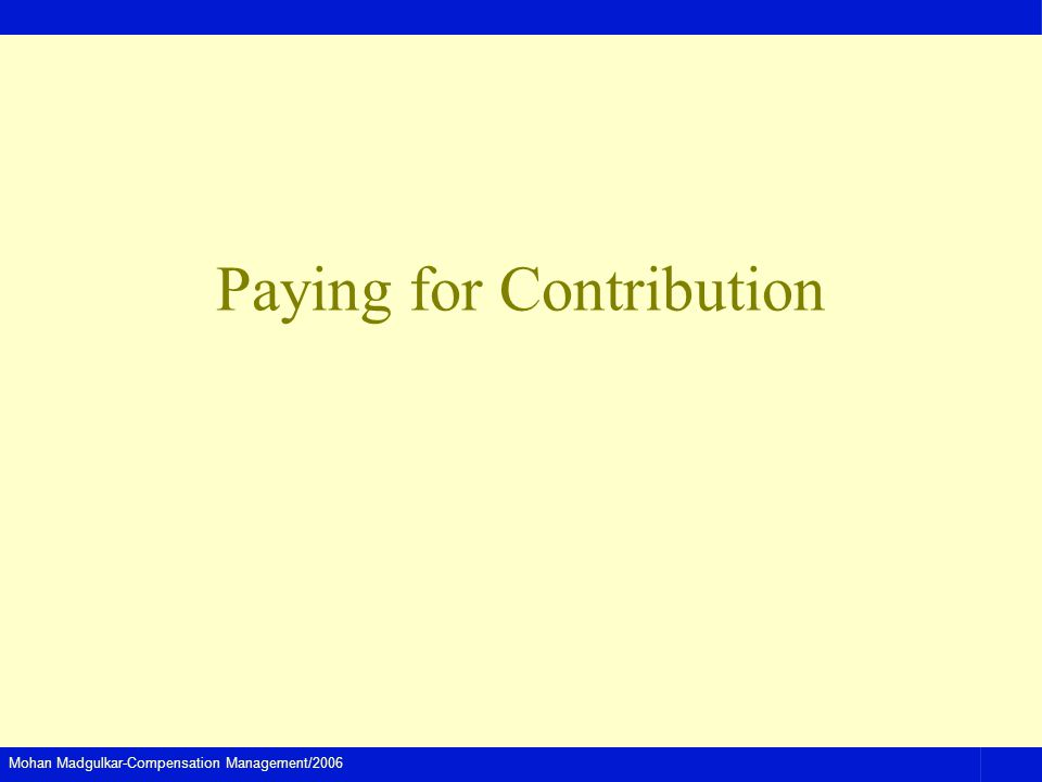 Paying for Contribution