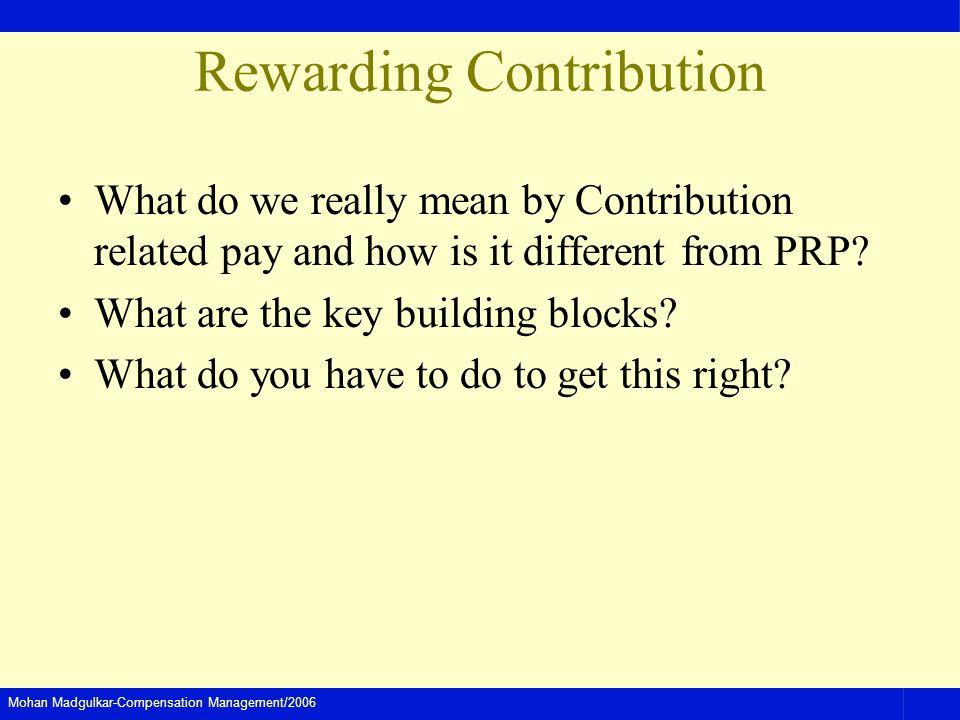 Rewarding Contribution