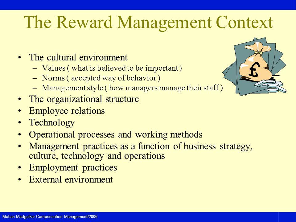 The Reward Management Context