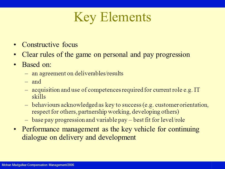 Key Elements Constructive focus