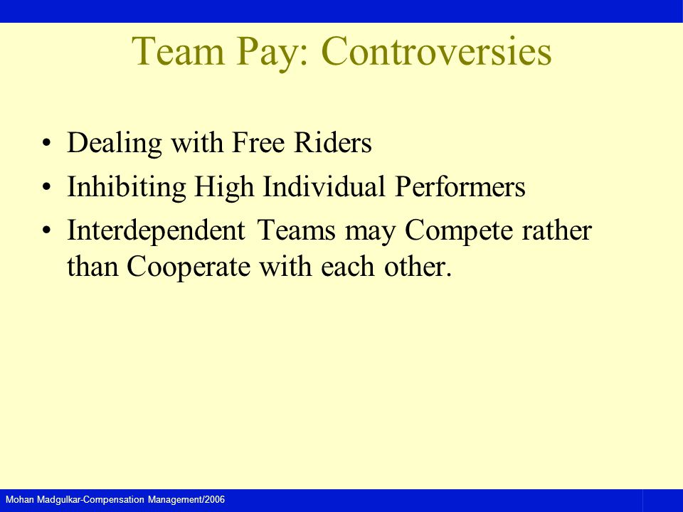 Team Pay: Controversies