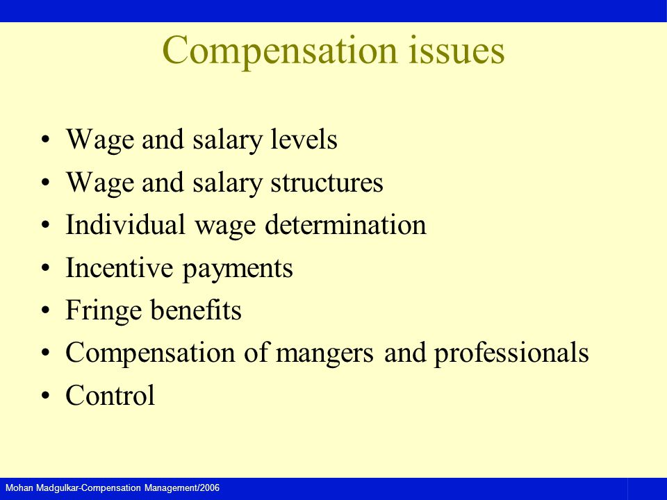 the problems with the executive compensation structure A nascent industry, executive-compensation consulting, changed this  forward  a competitive compensation package, their ceo will go find a better offer  that  the profligacy of those other boards created this problem: those.