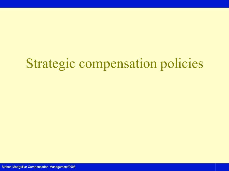 Strategic compensation policies