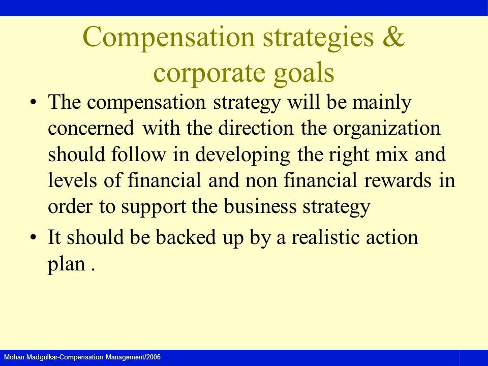 Compensation strategies & corporate goals