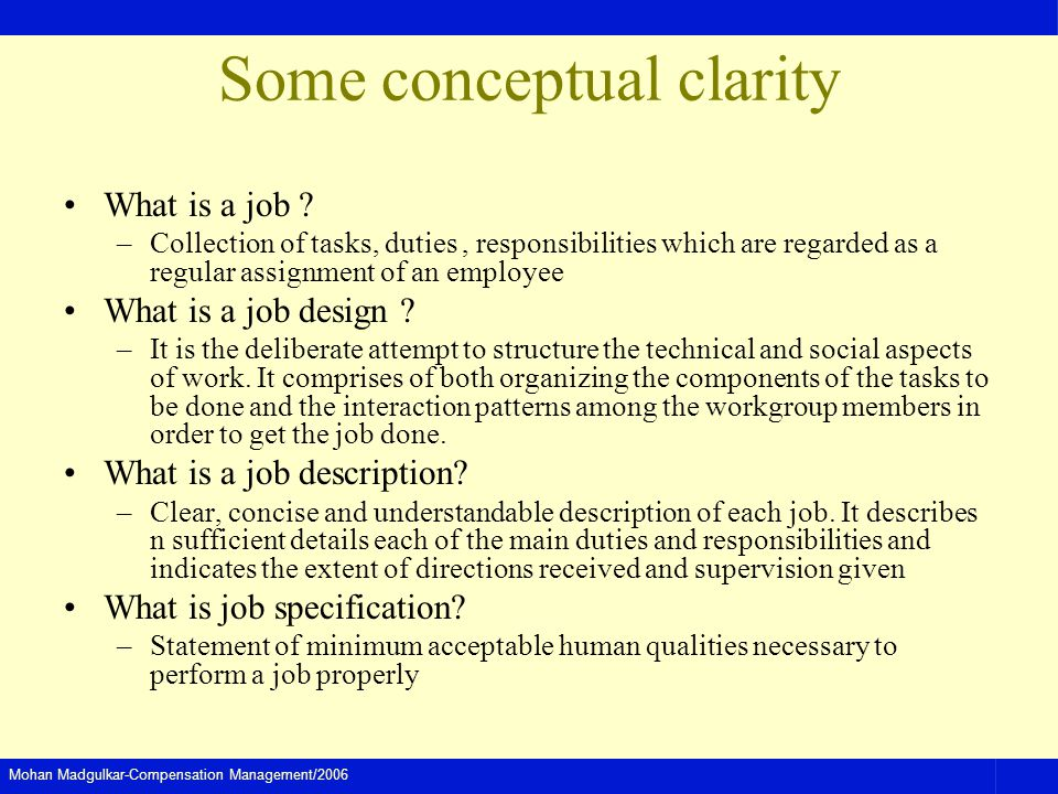 Some conceptual clarity