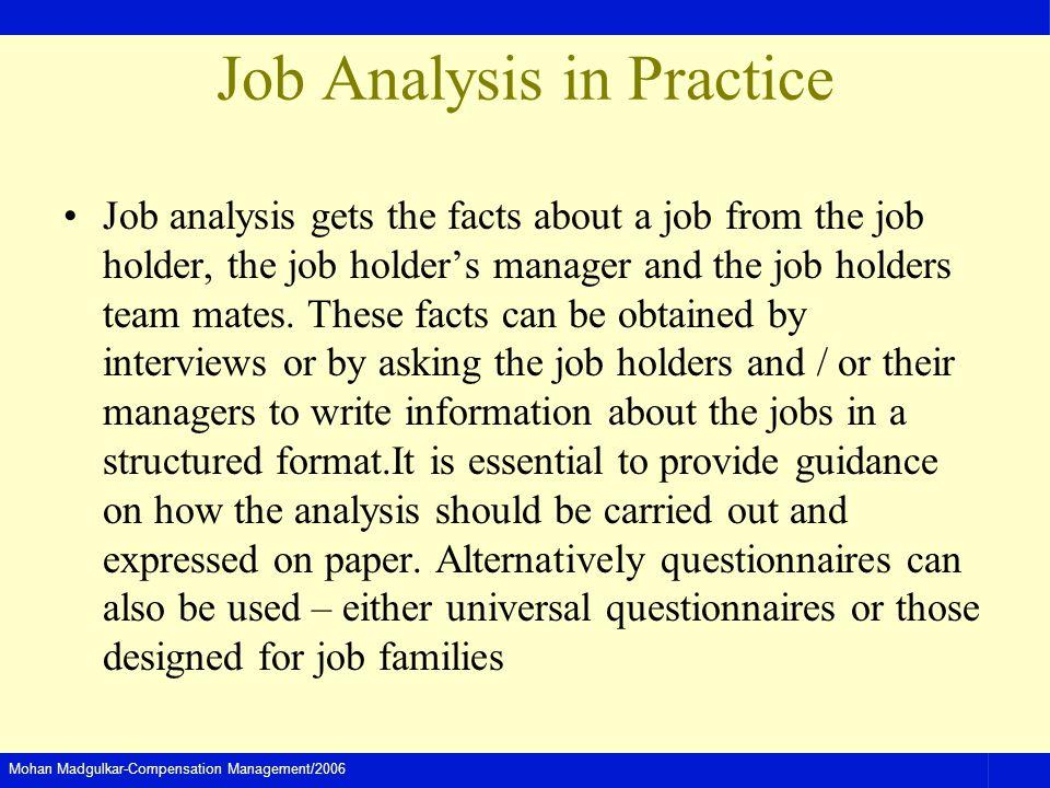 Job Analysis in Practice