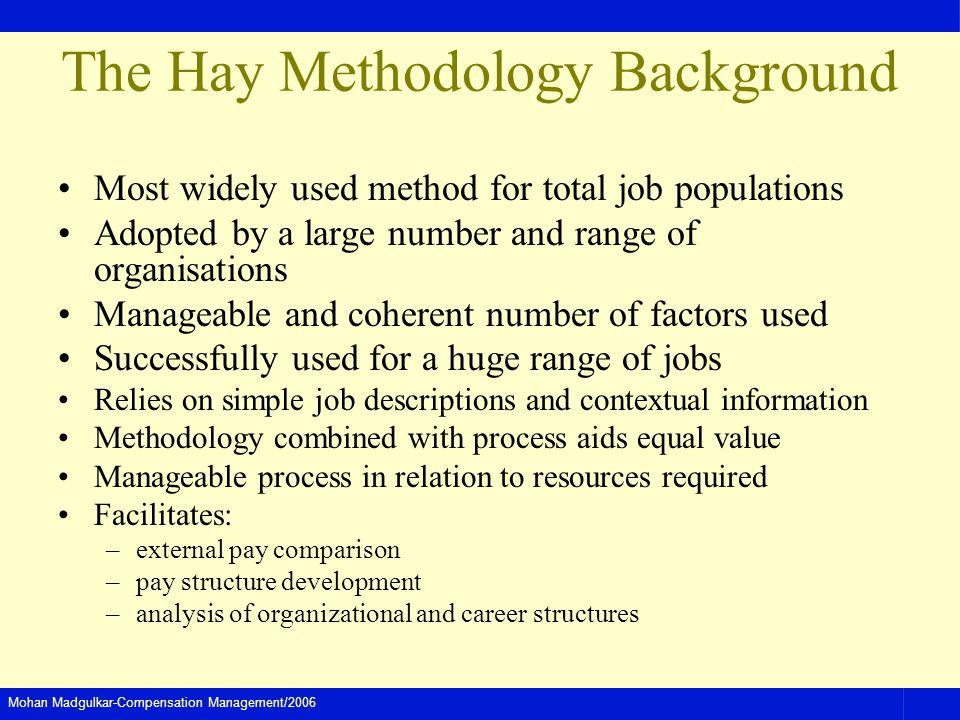 The Hay Methodology Background