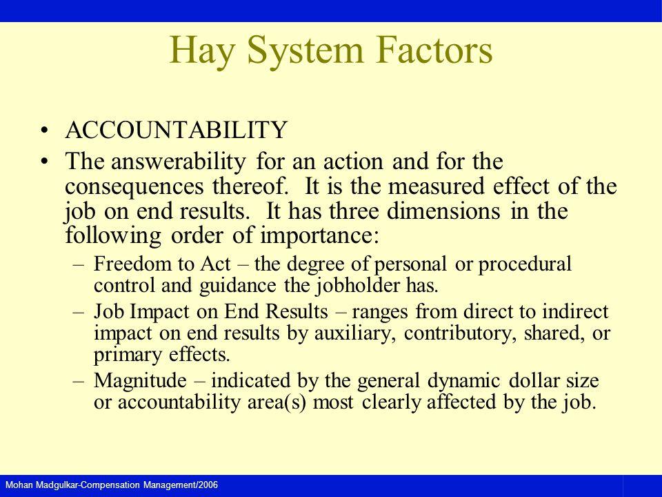 Hay System Factors ACCOUNTABILITY