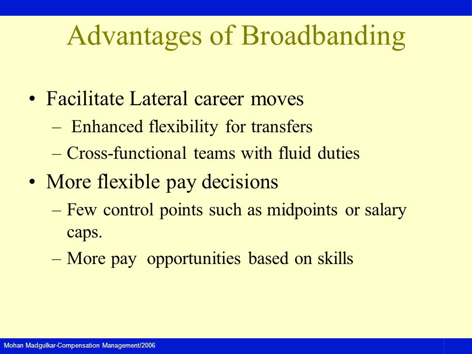 Advantages of Broadbanding