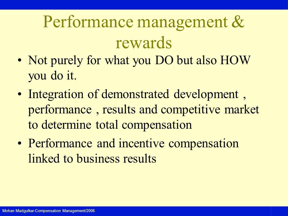 Performance management & rewards