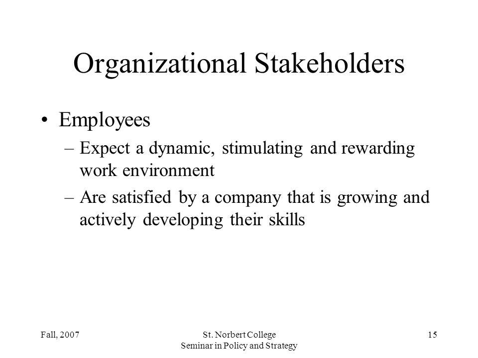 Organizational Stakeholders