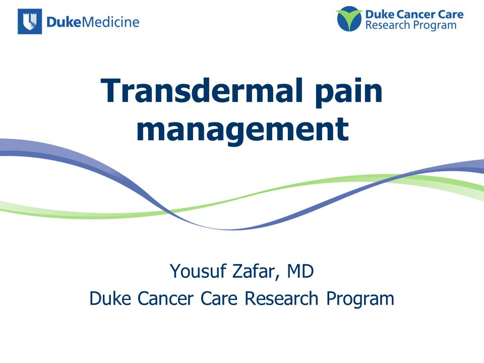 Transdermal pain management