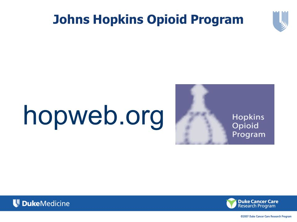 Johns Hopkins Opioid Program