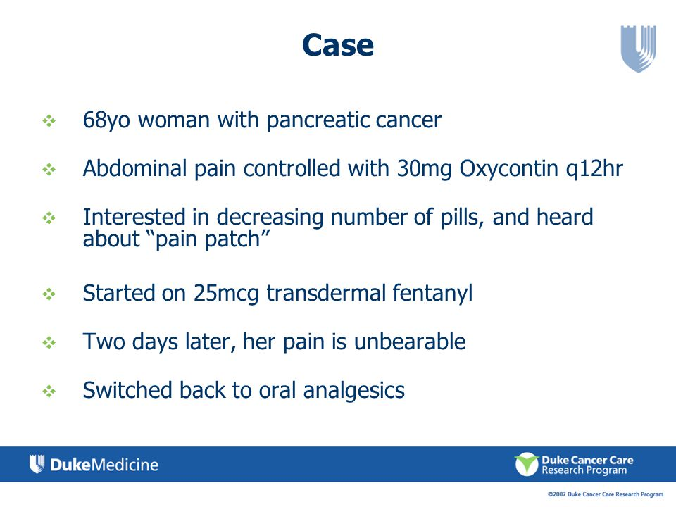 Case 68yo woman with pancreatic cancer
