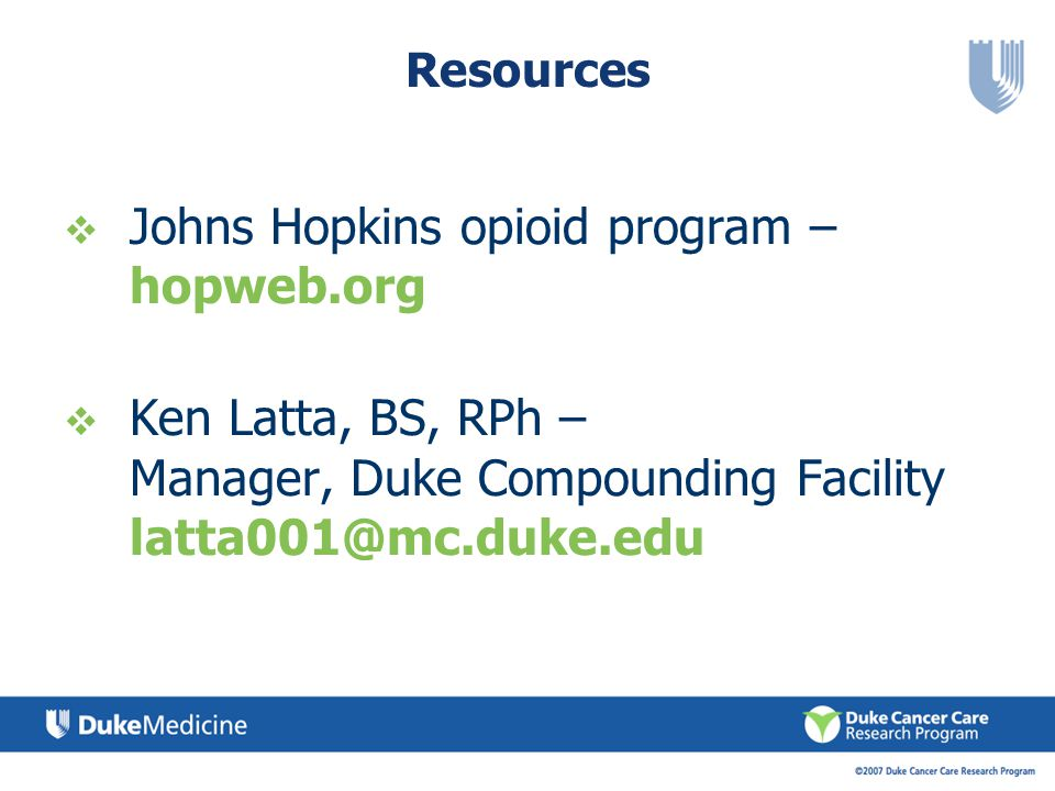 Johns Hopkins opioid program – hopweb.org