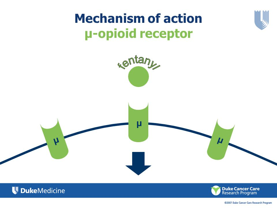 Mechanism of action µ-opioid receptor