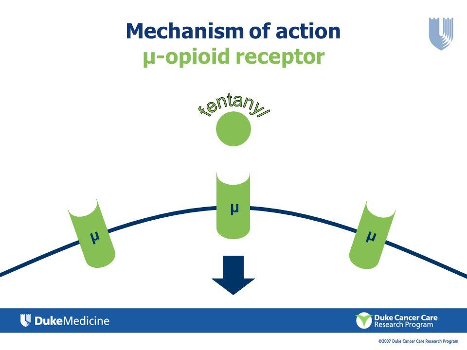 Mechanism of action µ-opioid receptor