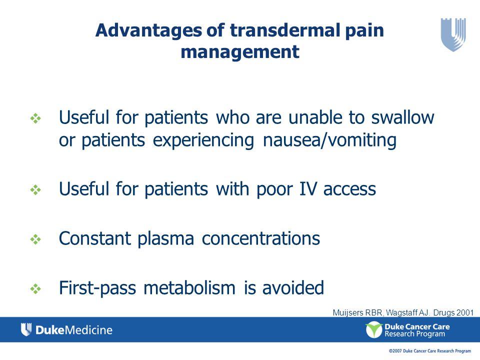 Advantages of transdermal pain management
