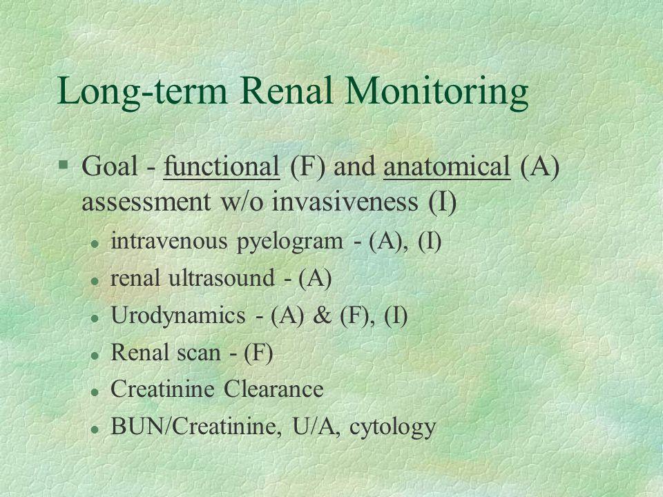 Long-term Renal Monitoring
