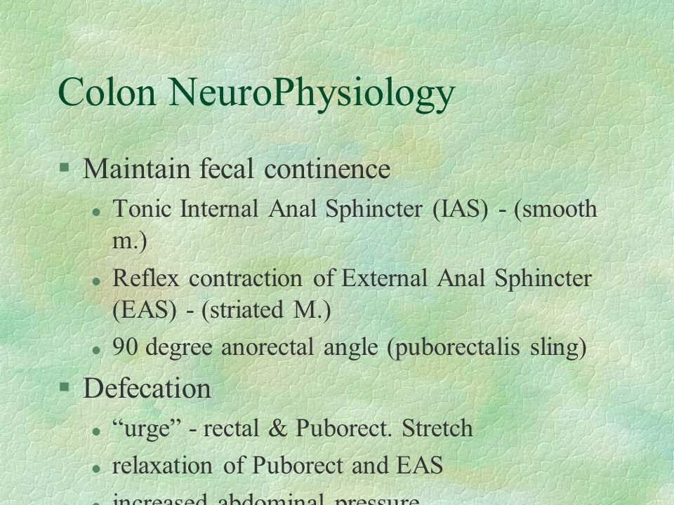Colon NeuroPhysiology