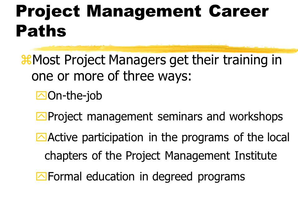 Project Management Career Paths