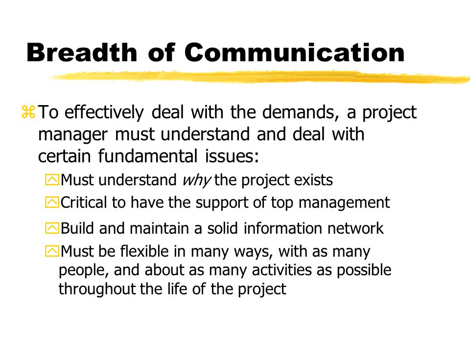 Breadth of Communication