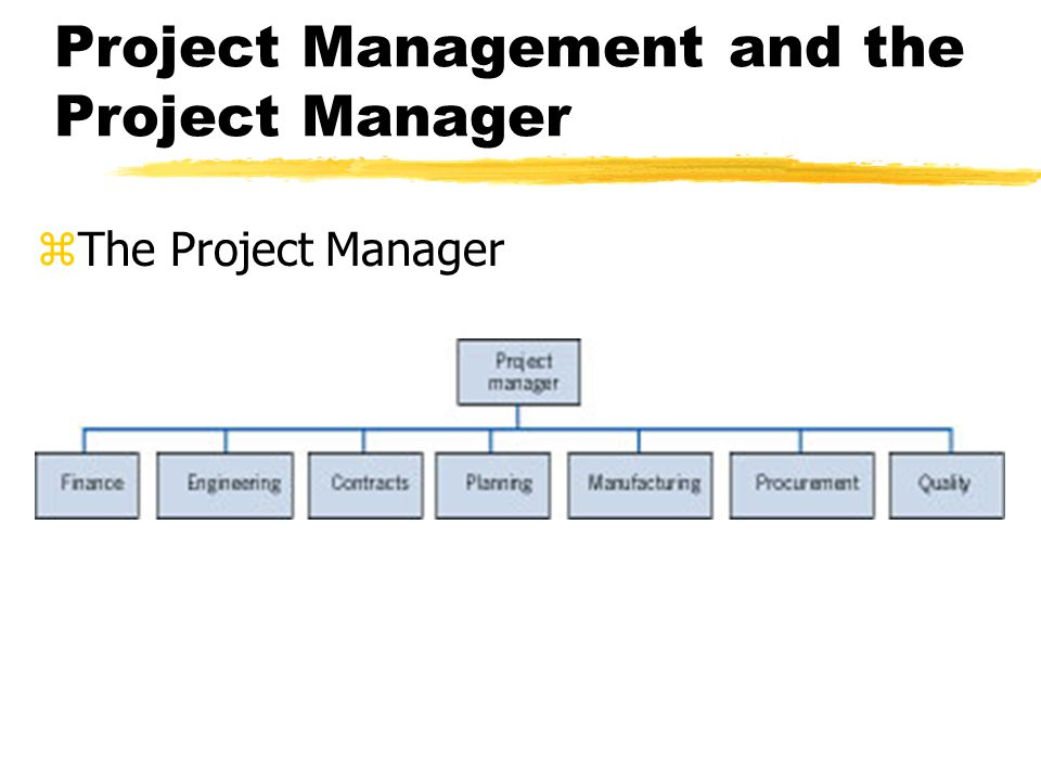 Project Management and the Project Manager