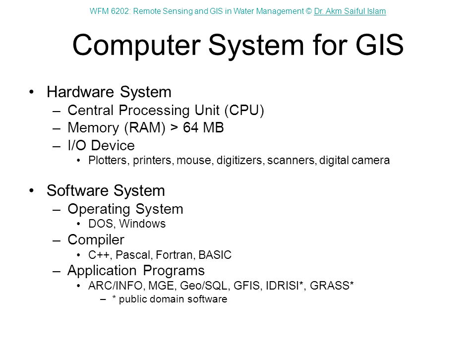 Computer System for GIS