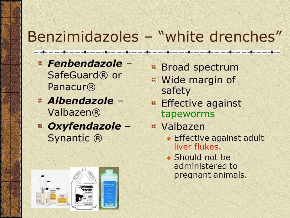 Benzimidazoles – white drenches