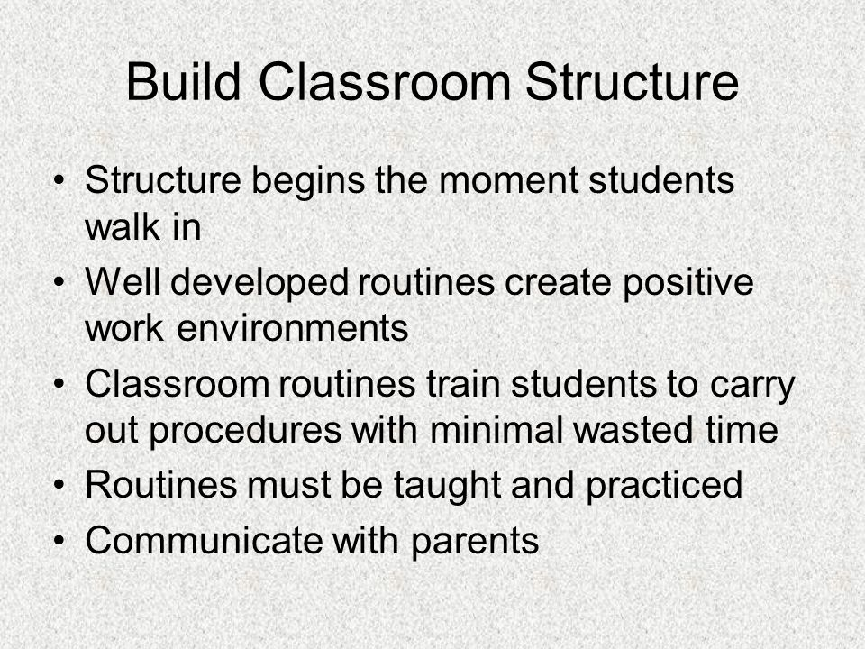 Build Classroom Structure