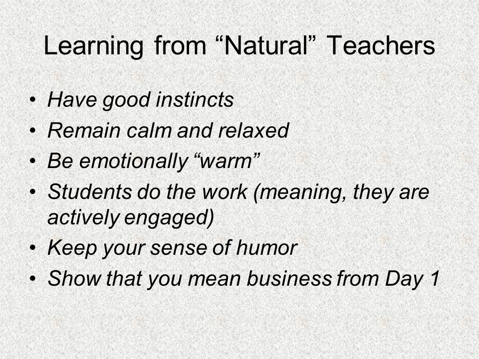 Learning from Natural Teachers