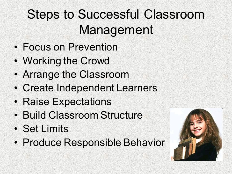 Steps to Successful Classroom Management