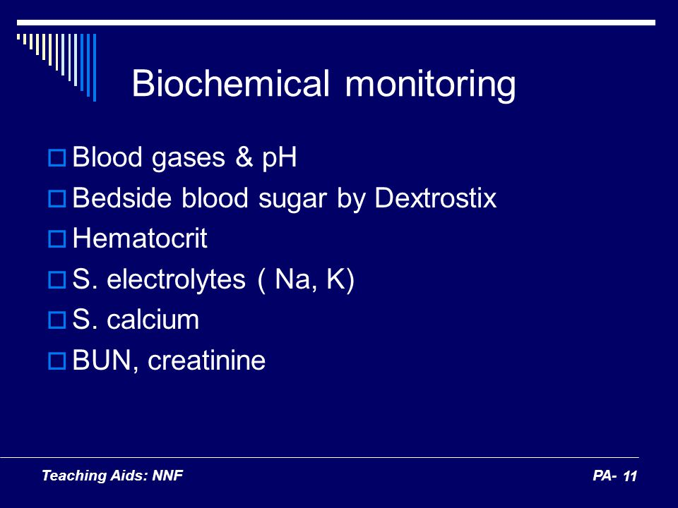 Biochemical monitoring
