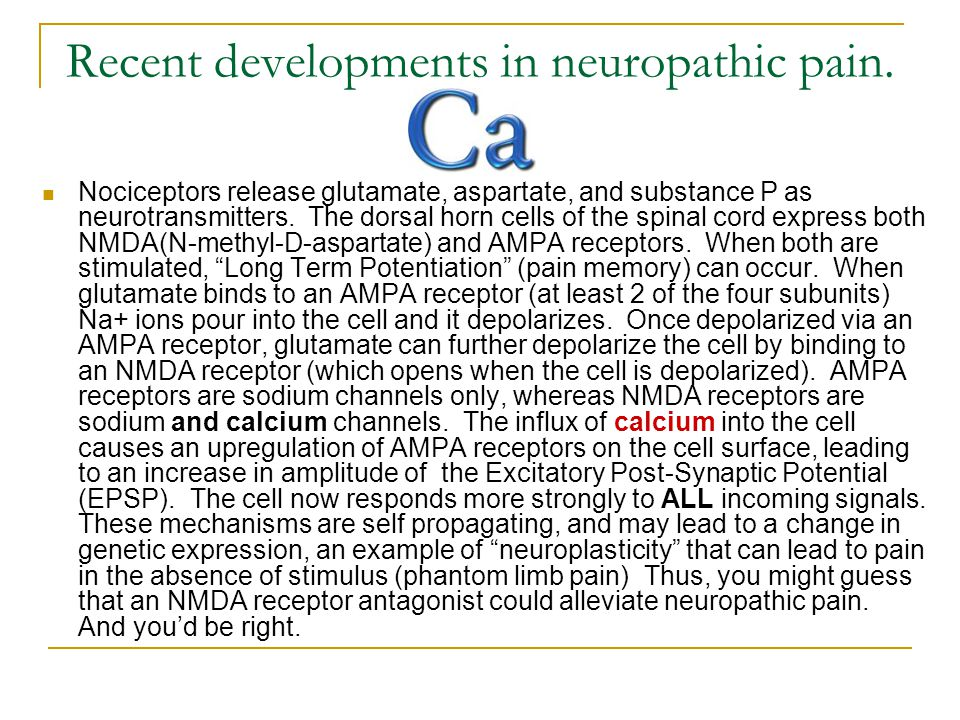 Recent developments in neuropathic pain.