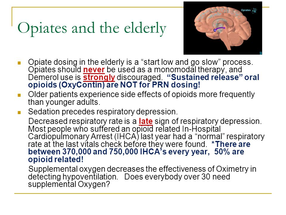 Opiates and the elderly