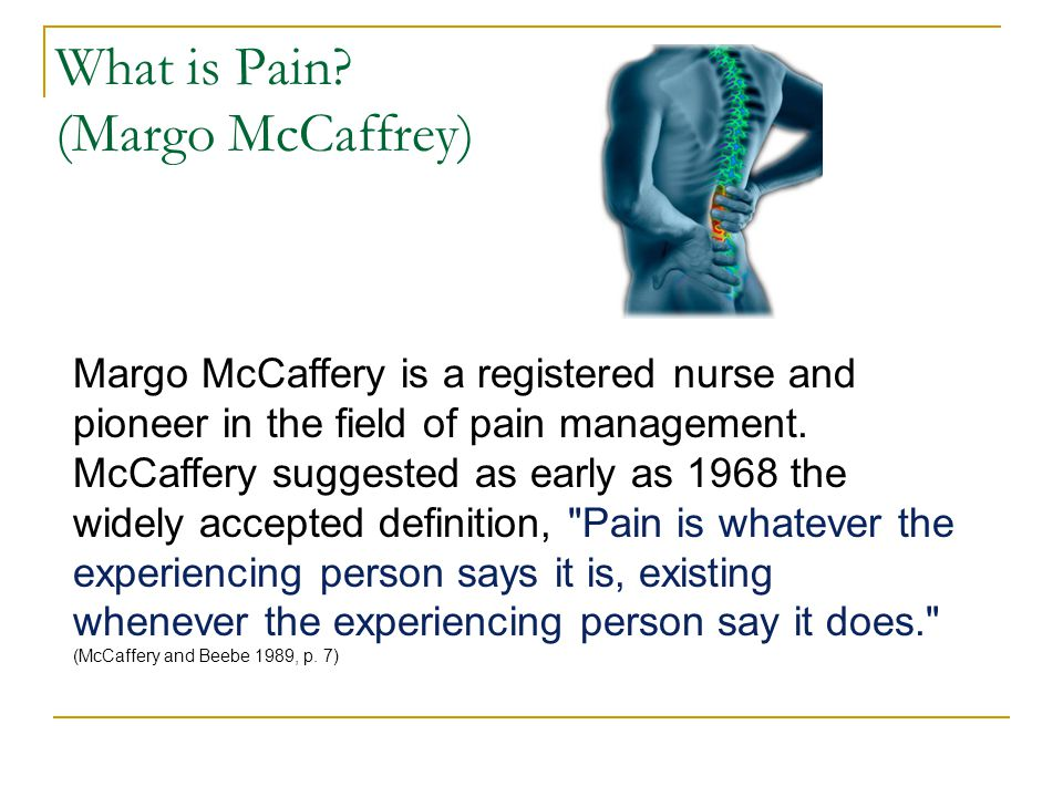 What is Pain (Margo McCaffrey)