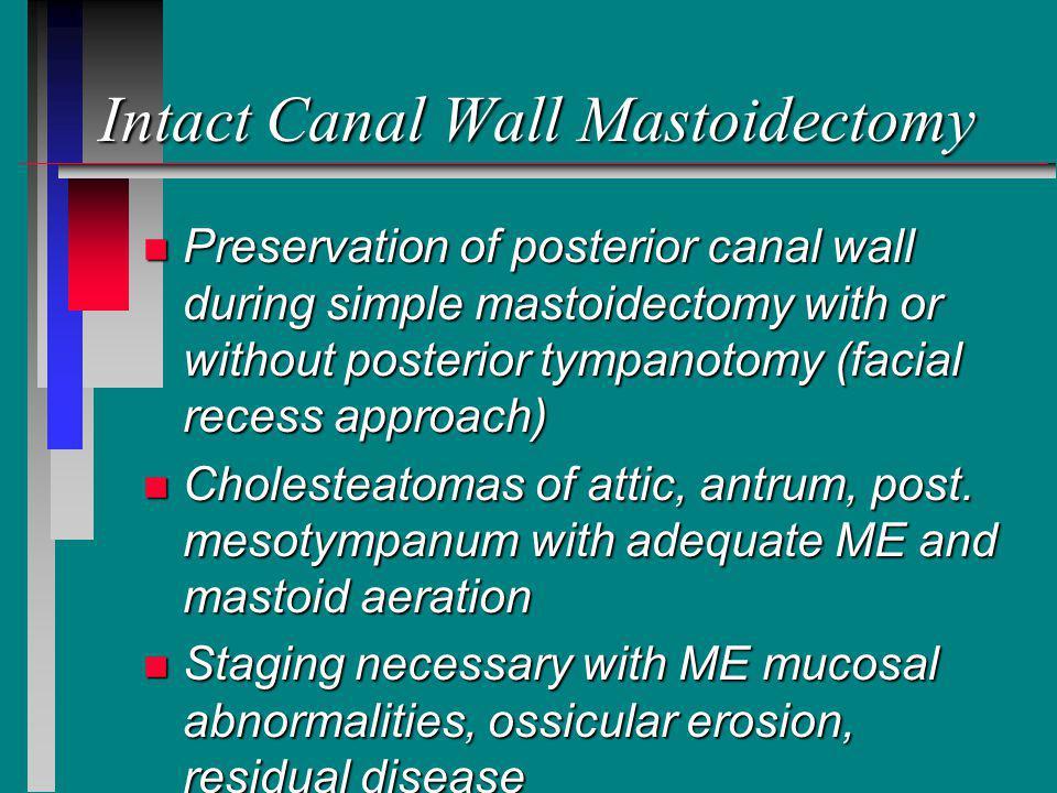 Intact Canal Wall Mastoidectomy