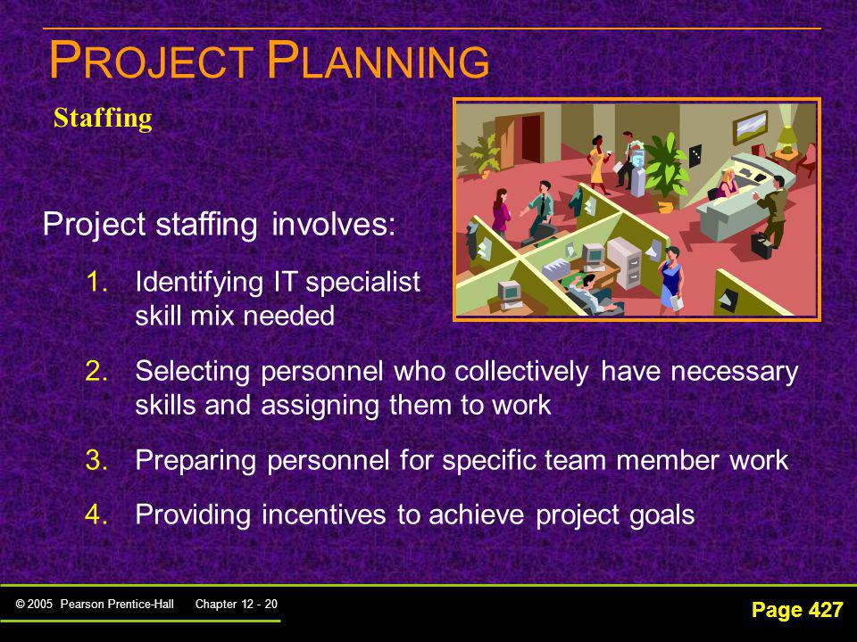 PROJECT PLANNING Project staffing involves: Staffing