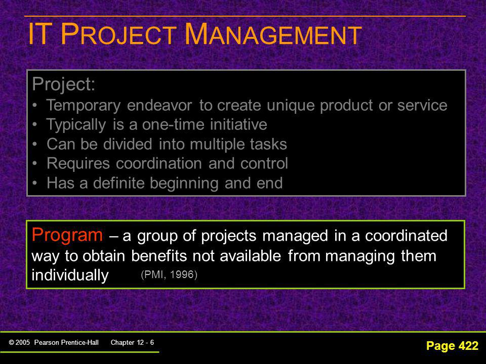IT PROJECT MANAGEMENT Project: