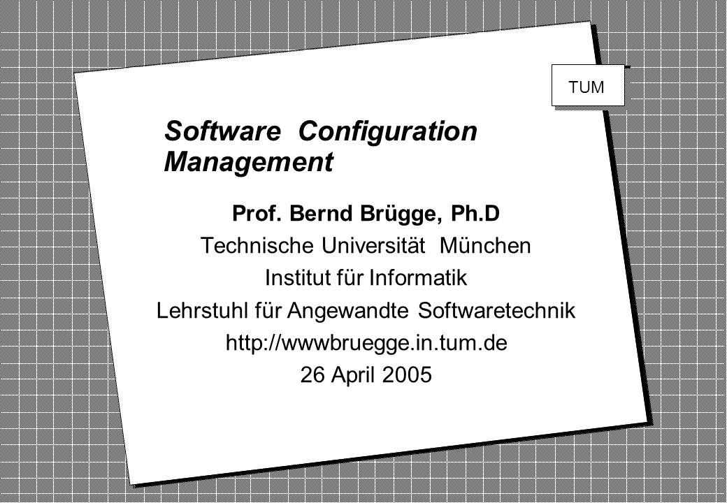 Software Configuration Management