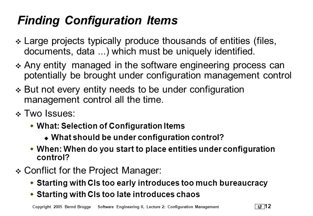 Finding Configuration Items