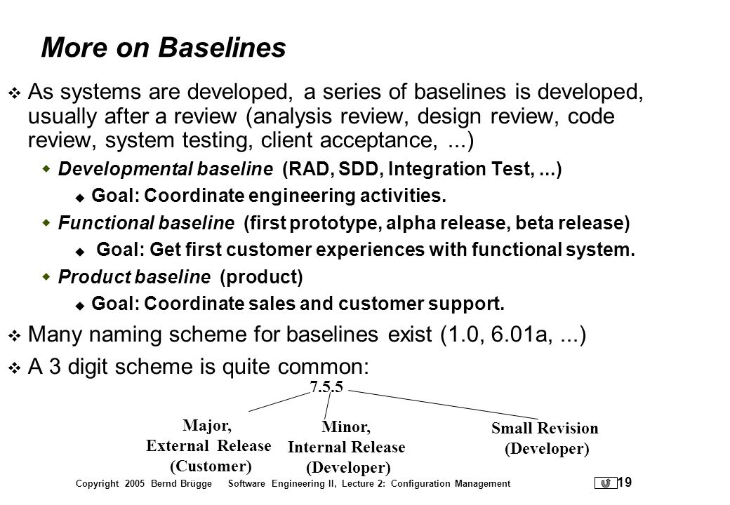 More on Baselines