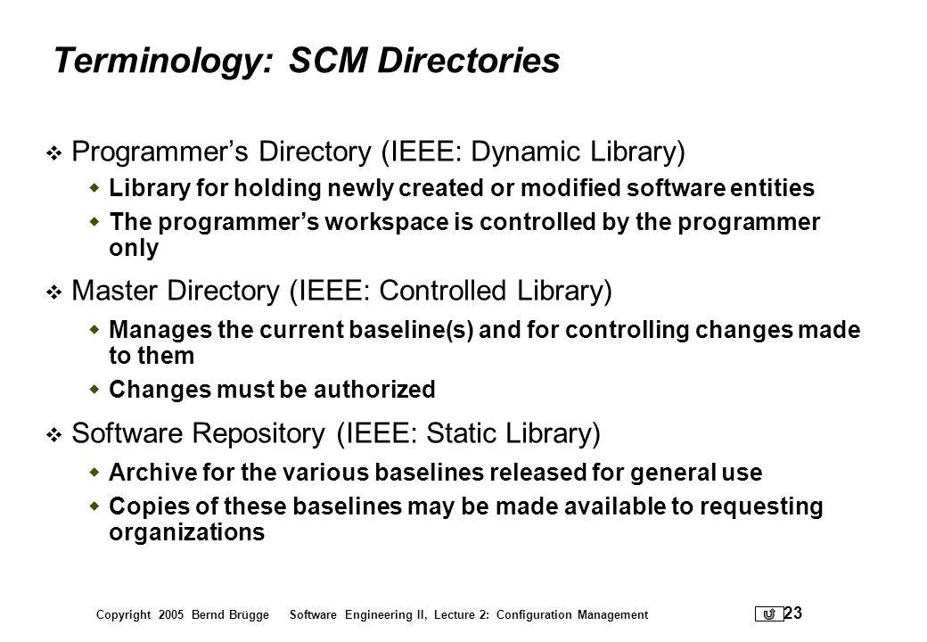 Terminology: SCM Directories