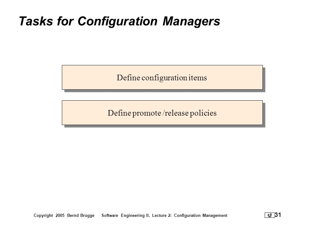 Tasks for Configuration Managers