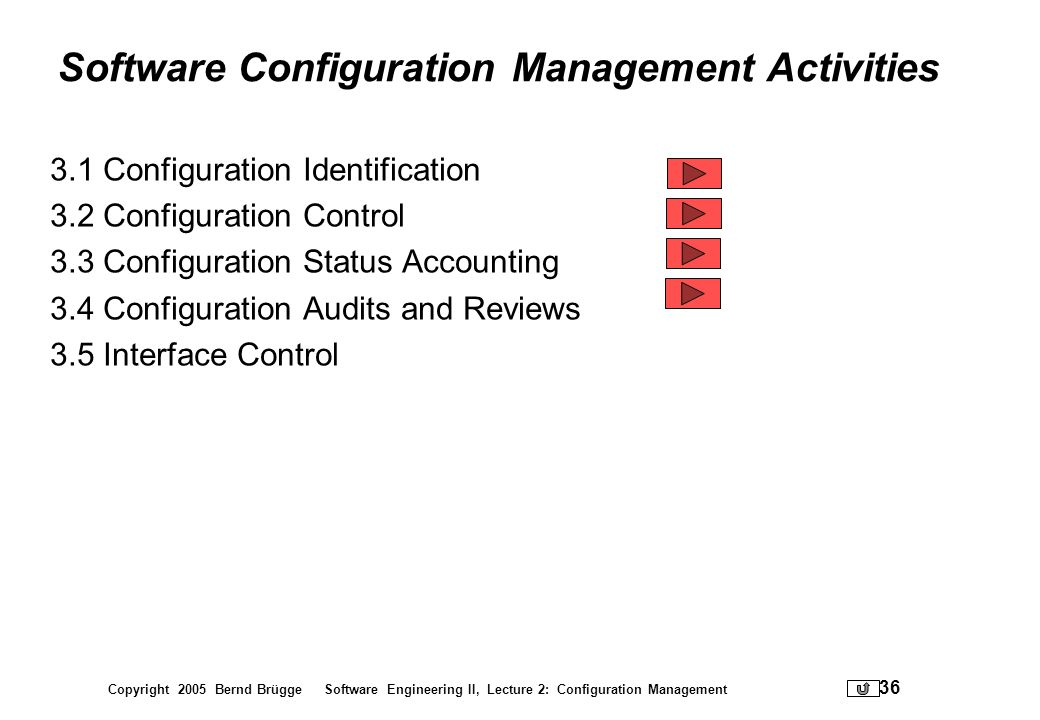 Software Configuration Management Activities