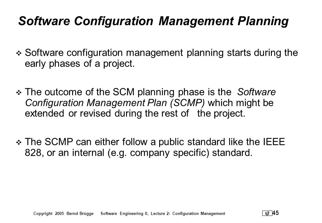 Software Configuration Management Planning