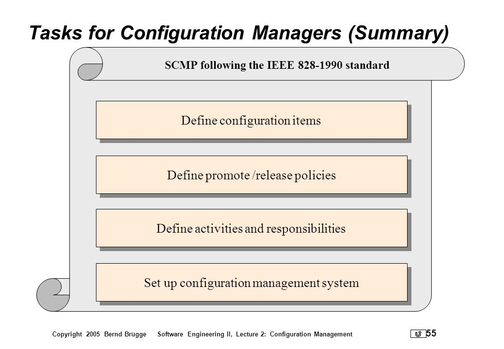 Tasks for Configuration Managers (Summary)