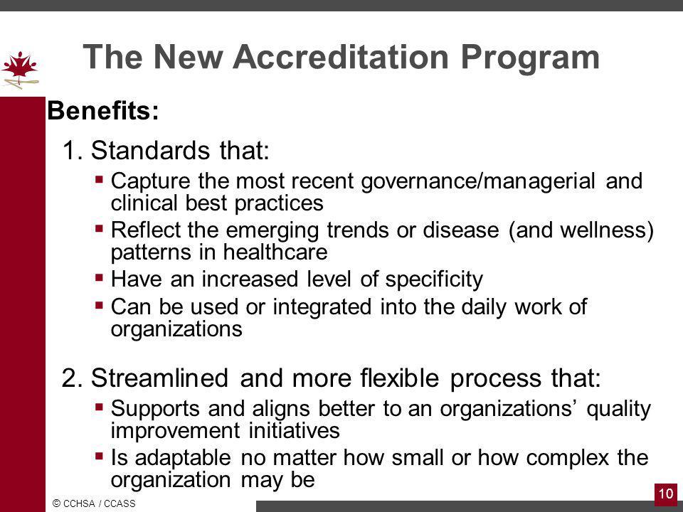 The New Accreditation Program