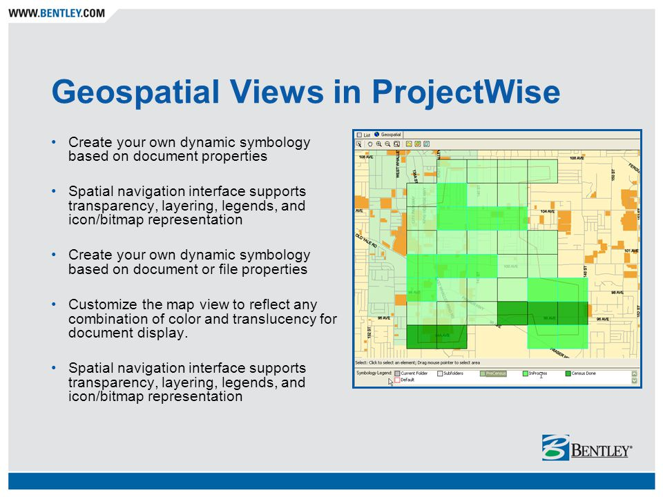 Geospatial Views in ProjectWise