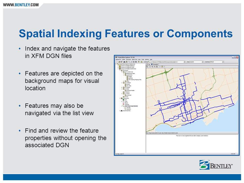 Spatial Indexing Features or Components